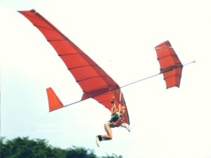 Experimental hang glider launching