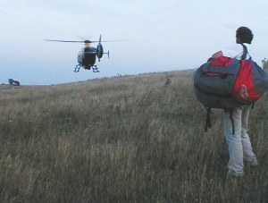 Medevac lift off from Combe in 2006