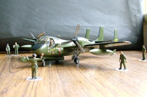 Photo of a 1/72nd scale OV-1 Mohawk
