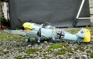 Photo of a 1/72nd scale Messerschmitt 109