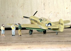 Photo of a 1/48th scale Curtiss P-40N