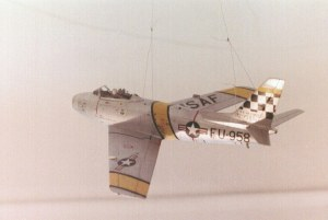 Photo of a 1/48th scale F-86