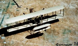 The 1903 Wright Flyer in approximately 1/48th scale