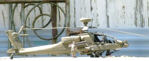 Photo of a model AH-64D