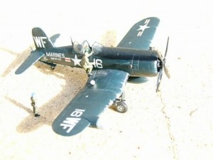 Photo of a 1/72nd scale F4U Corsair
