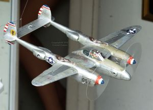 Plastic kit model airplane