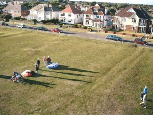 Aerial photo of the green at Barton-on-Sea