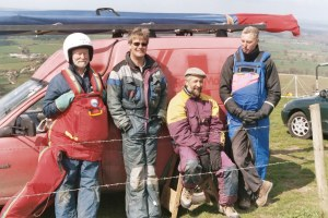 Photo of hang glider pilots