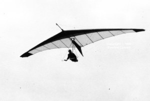 Photo of a 1980 prototype hang glider