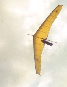 Photo of a 1980 hang glider