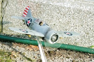 Photo of a 1/48th scale Brewster Buffalo