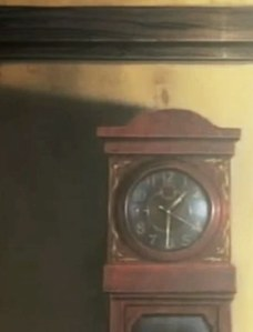Photo of the broken grandfather clock