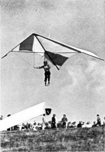 Photo of hang glider in Pilot magazine, March, 1976