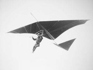 Photo of an experimental hang glider of 1976