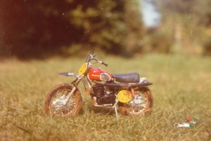 Photo of a 12th scale Husqvarna motocross bike of about 1970