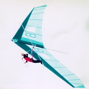 Painting of a 1977 hang glider