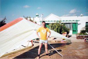 Glider wash, Puerto del Carmen, Lanzarote, February 1991