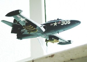 Photo of a 1/48th scale Grumman F9F Panther