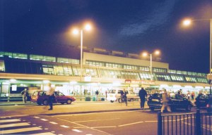 Night photo at Heathrow Airport