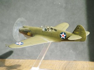 Photo of a 1/48th scale Curtiss P-40 at the time of Pearl Harbor
