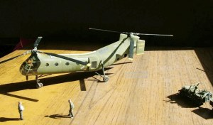 Photo of a 1/72nd scale Piasecki H-21