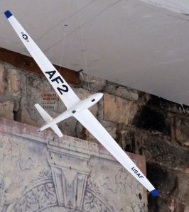 Scale plastic model sailplane