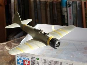 Partly completed Tamiya 1/48 Mitsubishi Zero