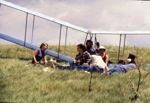 Val Lapsa and friends with the Icarus II
