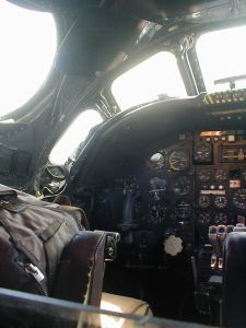 Captain's seat in the Avro Vulcan