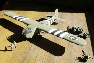 Photo of a 1/72nd scale Waco CG-4A assault glider