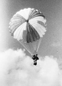 Photo of a parachutist in 1982