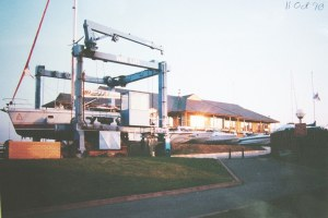 Photo of boat lift at Port Solent in 1990