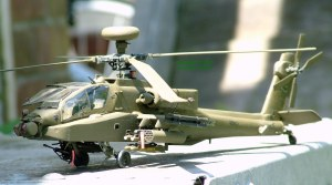 Photo of a scale model AH-64D