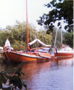 Boat moored on the river Avon in 1988