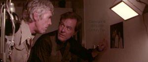 James Coburn and Robert Culp in 'Sky Riders,' 1976