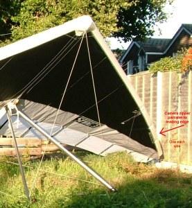 Hang glider camera zipper