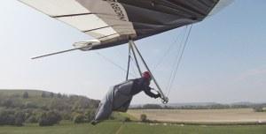 Hang glider on final approach
