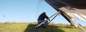 Rigging a hang glider