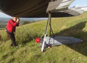 Hang glider hang check