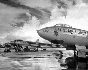 US Air Force photo of B-47s at an air base
