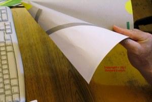 Photo of paper glider