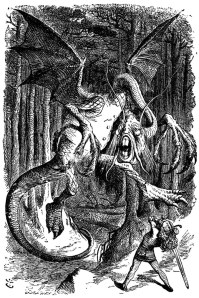 Jabberwocky illustration of 1871 by Sir John Tenniel