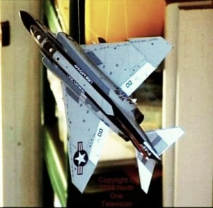 My 1/48th scale F-4 Phantom hanging in the hall