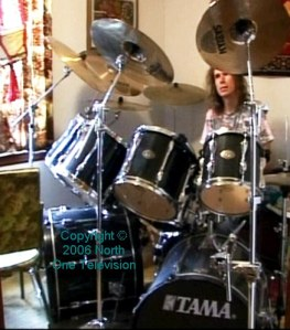 Gordon on drums