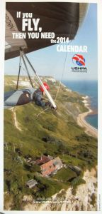 Advert for the 2014 USHPA hang gliding calendar