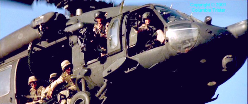 Black Hawk Down Crash Scene Still From 'black Hawk Down'