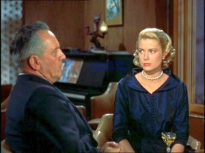 Admiral Tarrant, played by Fredric March, and Nancy Brubaker, played by Grace Kelly