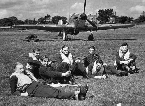 Hawker Hurricane pilots on alert