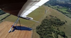 Hang glider photo from on-board camera