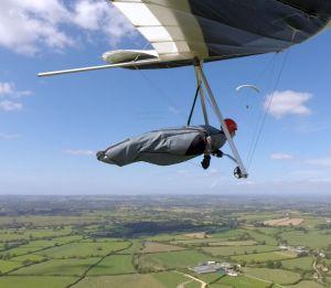 Hang gliding in-flight photo